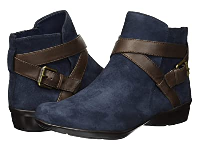 Naturalizer Cassandra (Navy/Brown Suede/Leather) Women