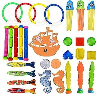 TIGERCUB プール おもちゃ お風呂 スイミング用品 水泳 水遊び ぷーる 大切な親子時間 子供用 男の子 女の子 贈り物 誕生日 プレゼント (9種30個入り)