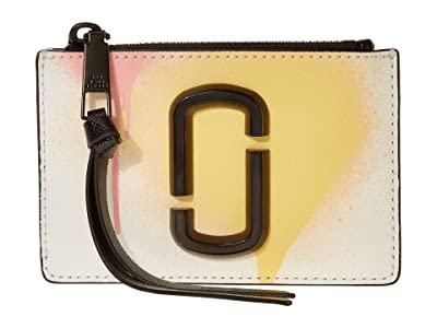 Marc Jacobs Snapshot Spray Paint Top Zip Multi Wallet (White Multi) Wallet Handbags