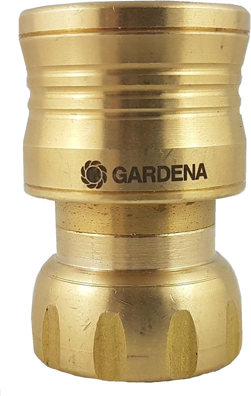 Gardena GBR-3818C Brass Hose Connector w/Waterstop