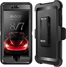 PTUNA iPhone 7 Case, iPhone 8 Defender Case with Belt Clip, Kickstand, Holster, Heavy Duty, Separate Screen Protector Included, Rugged Rubber Case Compatible with iPhone 7 & iPhone 8