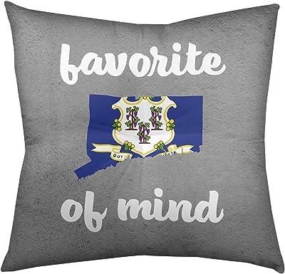 ArtVerse Katelyn Smith 16 x 16 Spun Polyester Connecticut Pillow