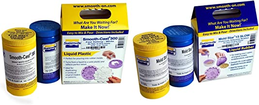 Smooth-On - Smooth-Cast 300 Liquid Plastic Compound & Mold Star 15 Slow Molding Silicone Rubber