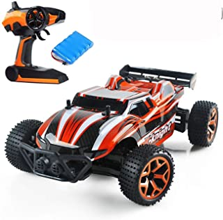 Rc Remote Control Cars High Speed Electric Vehicle for Kids Adults, 1/18 Scale Rc Trucks 4WD Off Road Racing Vehicle, 2.4Ghz Radio Remote Control Car
