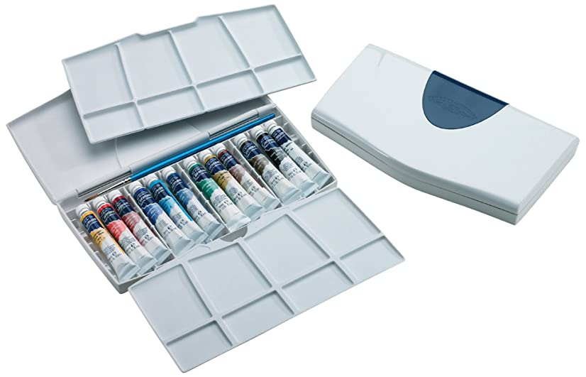 Winsor & Newton Cotman Water Colour Painting Plus Set, Set of 12, 8ml Tubes