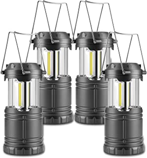 Anfrere Camping Lanterns, 4 Pack Battery Powered Camping...