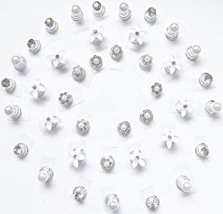 UNIQUELOVER 40pcs Spiral Hair Pins Clear Crystal Swirl Hair Twists Coils Jewelry Hair Pin Clip Accessories For Delicate Women' Wedding Prom Party Special Event DIY Hair styles With Jewelry Storage Bag