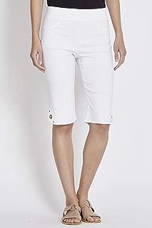 Rockmans Bengaline Short White 8 - Womens