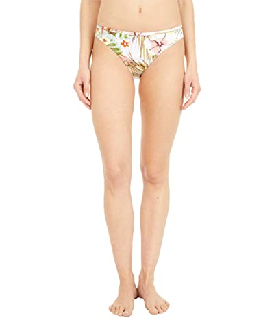 Roxy Printed Beach Classics Full Coverage Bikini Bottoms (Bright White Herbier) Women
