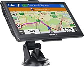 Navegación GPS para coche y autocaravana, GPS de 7 pulgadas de pantalla táctil del vehículo, mapas gratuitos de por vida de América del Norte USA Canadá México, asistencia de carril, direcciones habladas giro a giro