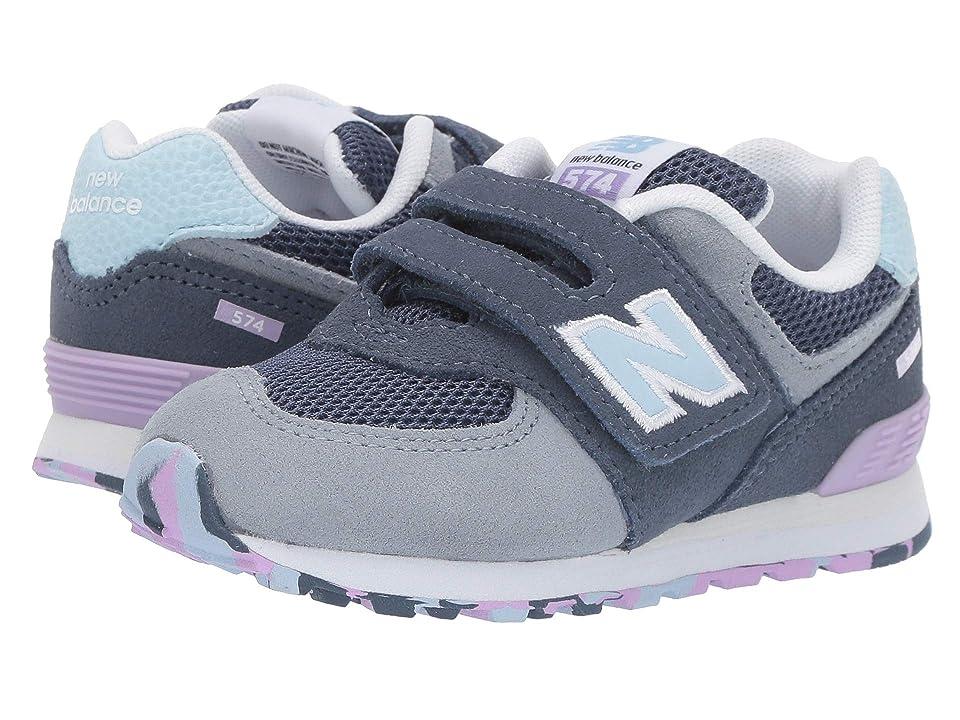 New Balance Kids IV574v1 (Infant/Toddler) (Vintage Indigo/Dark Violet) Girls Shoes