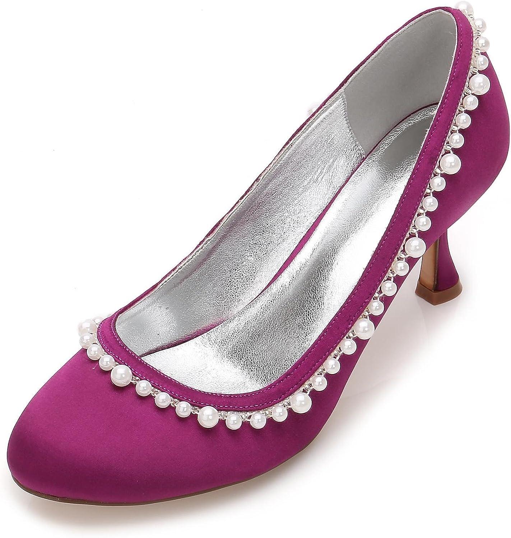L@YC Damen Hochzeit Strass T-17061-35 Elfenbein Satin Satin Braut Braut Damen Brautjungfer Gericht Schuhe Größen 3-7  Outlet Online-Shop