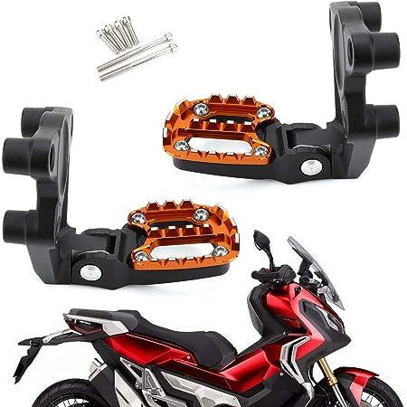 Xadv Motorrad Fußrasten Cnc Aluminium Fußstütze Fußrastenanlage Für Honda Xadv X Adv X Adv 300 750 1000 2017 2018 2019 Silber Rot Auto