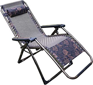 Folding Lounge, Camping Chair with Reclining Function, Recliner Chair, Foldable and Adjustable Garden Chair,B