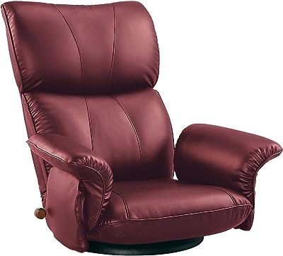 ミヤタケ(宮武製作所) スーパーソフトレザー座椅子 ワインレッド YS-1396HR