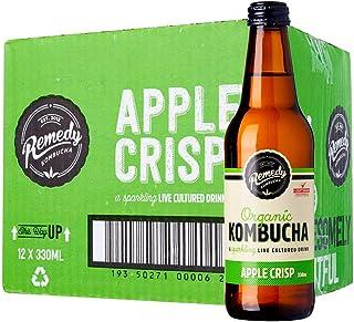 Remedy Organic Kombucha Apple Crisps, 330 ml (Pack of 12)