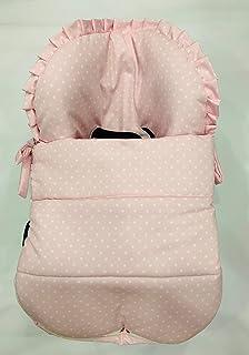 Saco para Maxi Cosi Cabrio en pique rosa con estrellitas blancas