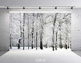 JoneAJ 10849 - Fondo de Nieve para fotografía, diseño de árbol de Frozen Blanco de 2,74 x 1,82 m, Fondo de Fotos para niños