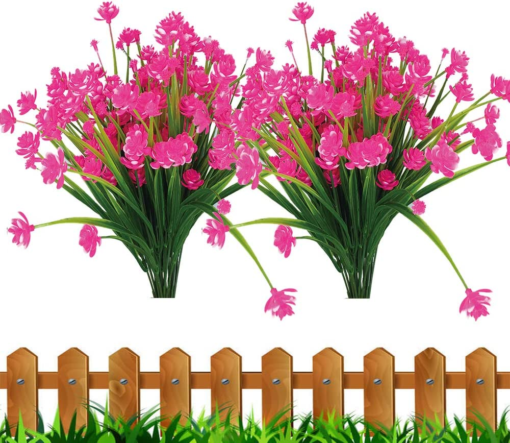 JEMONG Artificial Fake Flowers Max 87% OFF 8 Outdoor Max 85% OFF G UV Bundles Resistant
