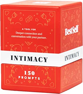 Intimacy Deck by BestSelf - 150 Engaging Conversation Starters for Couples to Strengthen Their Relationship, Romance, Trust, Openness and Vulnerability - Best Couple Card Game for Romantic Gift