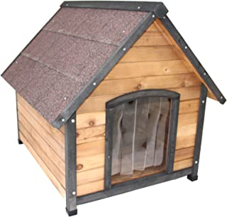 Dog Kennel Wooden Pet Puppy House Timber Home Indoor Outdoor (Large)
