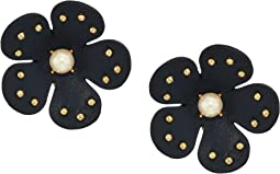 Blooming Bling Leather Studs