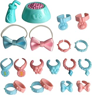 Tiny Pet Shop lps Pet Shop Accessories, lps Collar(4pcs Random) lps Bowknot and Collar Suit to lps Cat Great Dane Dog, Collie and Dachshund Best Gift for Your Lovely lps Figures(Cat Not Included)