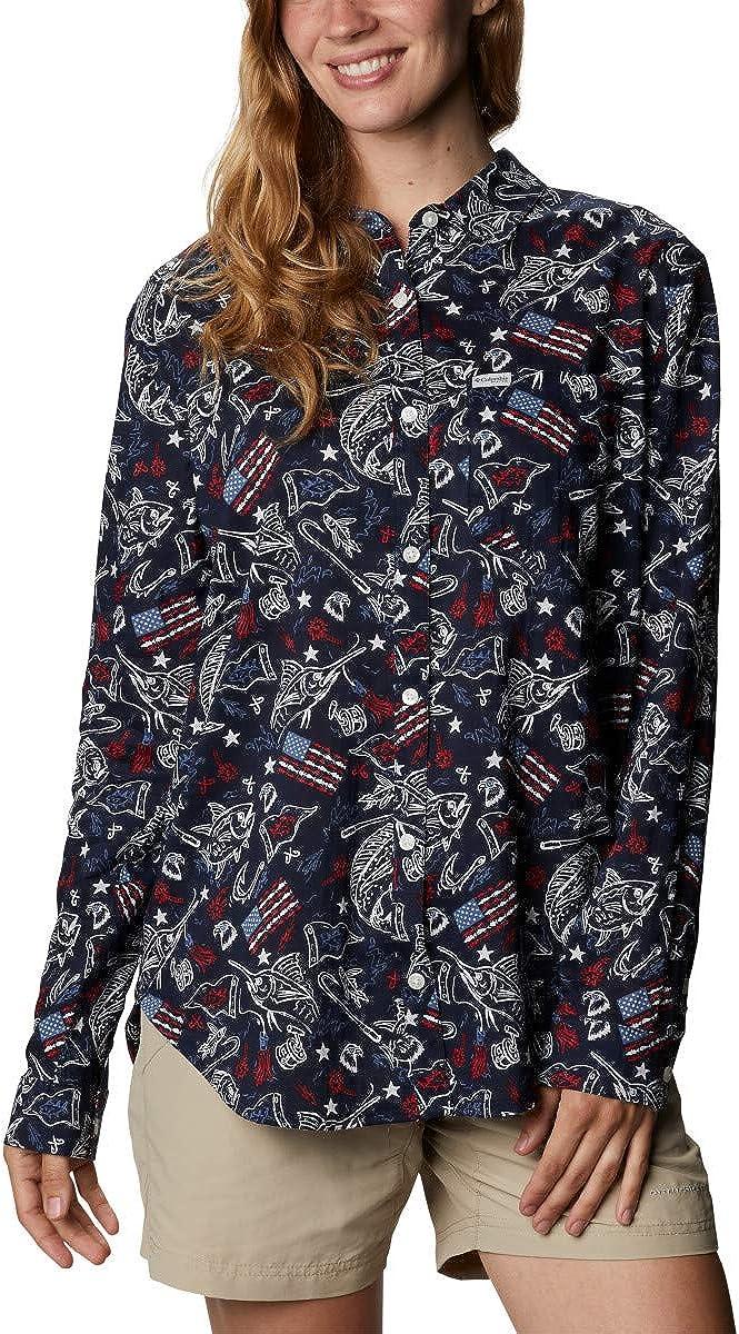 Columbia Women's Slack Finally popular brand Water Woven Ranking TOP14 Shirt Sleeve Long