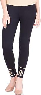 American-Elm Women's Stylish Ankle length Legging- Black