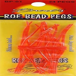 Brad's Killer Fishing Gear Fluorescent Red 24CT Roe Bead Peg, Flourescent Red