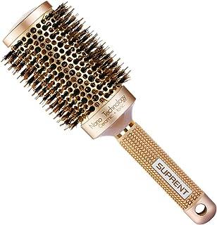 SUPRENT ボウル型ナノサーマルセラミック&ラウンドバレルヘアブラシ Nano Thermal Ceramic & Ionic Round Barrel Hair Brush with Boar Bristle (並行輸入品)