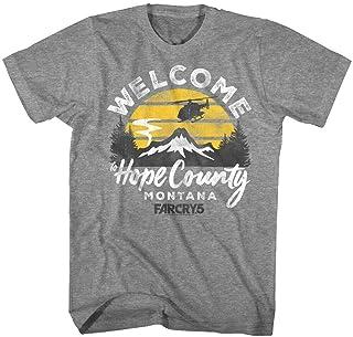 Far Cry 5 Welcome to Hope County Montana Logo Men's T Shirt Ubisoft Gamer