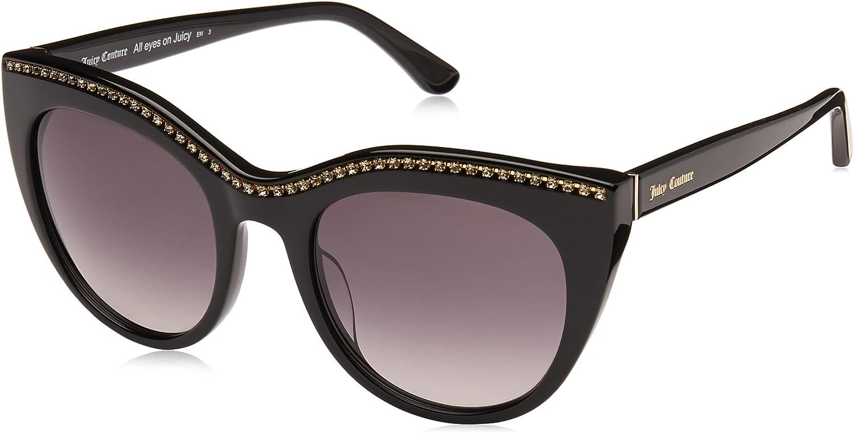 Juicy Couture Women's Ju595 s Cateye Sunglasses, Black, 51 mm