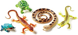 Learning Resources Jumbo Reptiles & Amphibians, Tortoise, Gecko, Snake, Iguana, and Tree Frog, 5 Animals, Ages 3+