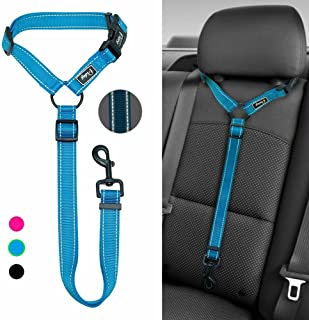 Didog Dog Vehicle Car Harness for Car Travel Walking,Adjustable Dog Leashes Fit Small Medium Large Dogs