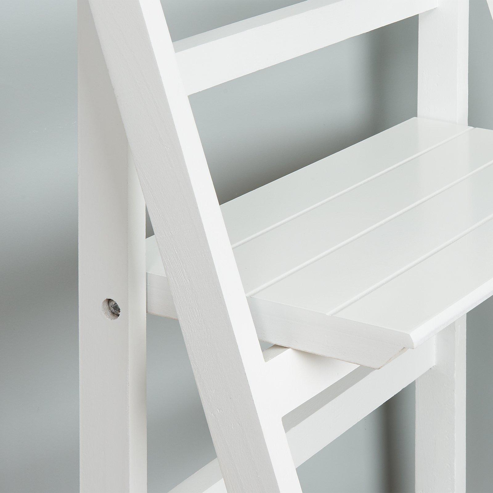Hartleys Estantería Plegable de 4 baldas Tipo Escalera Blanca ...