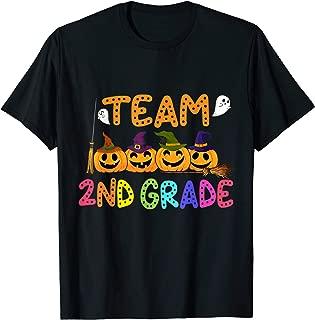 Crew Halloween Costume For Second 2nd Grade Pumpkin Team T-Shirt