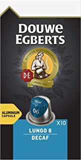 Douwe Egberts Koffiecups Lungo Decaf (100 Capsules, Geschikt voor Nespresso* Koffiemachines, Intensiteit 06/12, Cafeïnevri...