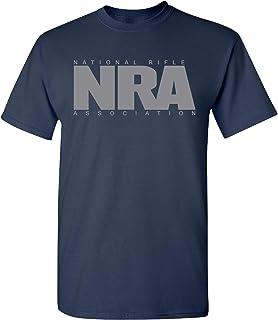 NRA National Rifle Association Men's Solid Logo Short Sleeve Cotton T-Shirt