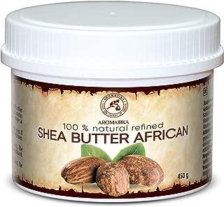 Refined Shea Butter 15oz - Ghana - 100% Natural & Pure Shea Butter for Body Care - Hair - Face - Body Butter - Butyrospermum Parkii