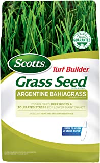 Scotts Turf Builder Grass Seed Argentine Bahiagrass, 5 lb. - Designed for Full Sun and Heat and Drought Resistance - Seeds Up to 1,000 sq. ft.