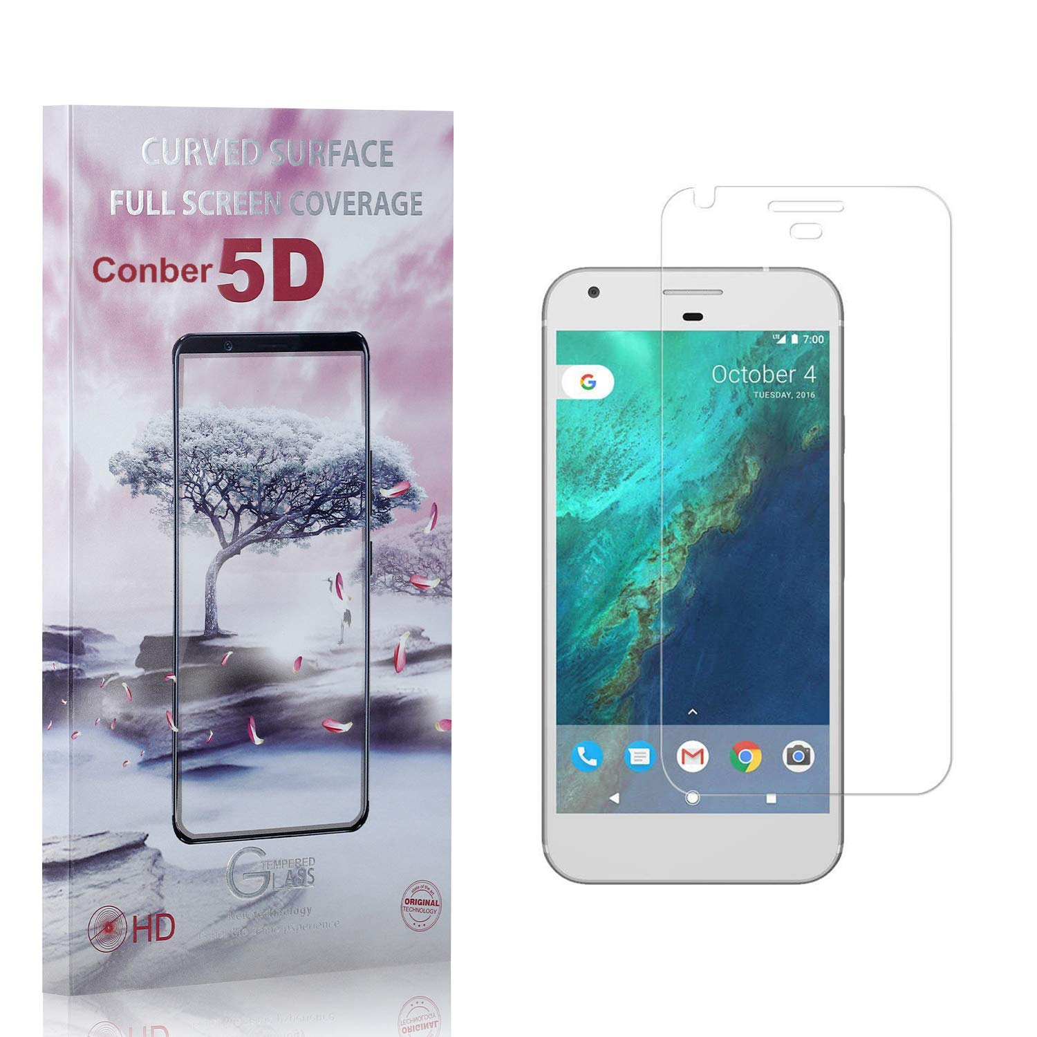 Conber trend rank 2 Pack Screen Protector for Pixel Deluxe Google Anti-Shatter