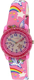 Timex Girl's Unicorn TW7C25500 Pink Nylon Japanese Quartz...