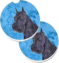 Caroline's Treasures Blue Schnauzer Set of 2 Cup Holder Car Coasters SS4799-BUCARC, 2.56, Multicolor