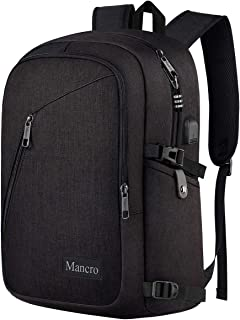 Business Travel Laptop Backpack, Anti Theft Slim Laptop Bookbag with USB Charging Port..