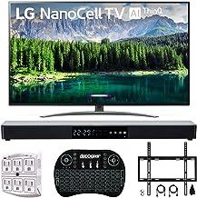 "$1096 Get LG 65"" 65SM8600 4K HDR Smart LED NanoCell TV w/AI ThinQ 2019 Model (LG65SM8600PUA 65SM8600PUA 65SM8600P) with Home Theater 31"" Soundbar, Wireless Backlit Keyboard, Flat Wall Mount Kit & SurgePro 6"