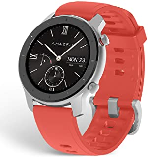 comprar comparacion Amazfit GTR 42mm - Reloj Inteligente con frecuencia cardíaca y Seguimiento de Actividad, batería de Larga duración, Rojo