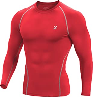 Men's Long Sleeve Compression Shirt - Cool Dry Athletic Baselayer Workout T-Shirts