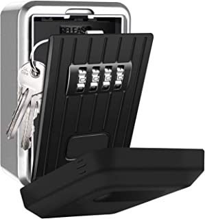 Eletorot Caja fuerte para llaves, Caja Seguridad Llaves, Caja de seguridad Combinación de 4 dígitos combinaciones de diseño de contraseñas