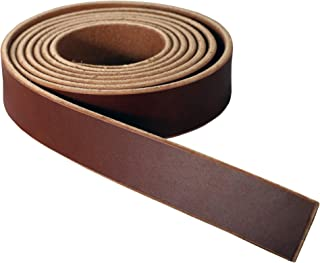 """Premium Wickett & Craig English Bridle Leather Blank Strap, 10-12oz Weight [5/32""""-3/16"""" (4mm-4.8mm) Thickness] - Fully Finished, 100% Leather Strip, Medium Brown, 3/4"""" Wide x 84"""" Long"""